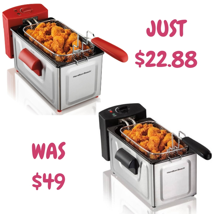 Hamilton Beach Deep Fryer Just $22.88! Down From $49!