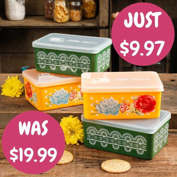 Rectangular Containers 4-Piece Set