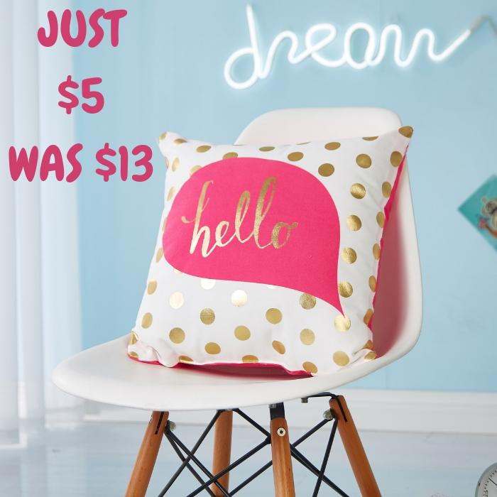 Mainstays Hello Throw Pillow